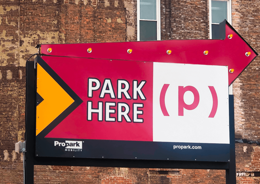 Propark Mobility Sign | Commercial Parking Solutions